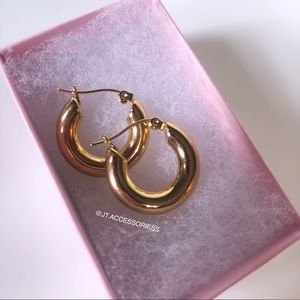 Gold Plated Chunky Circle Hoops